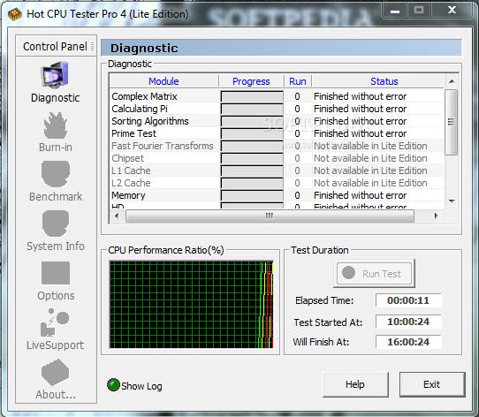Hot CPU Tester Pro v4.41